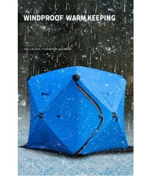 3-4 Person Winter Ice Fishing Tent Windproof Outdoor Warm Portable Large Shelter