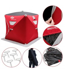 Ice Fishing Shelter Insulated Hunting Tent Dome Igloo 3 Men Portable Pop Up Bag