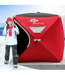 3-person Portable Pop-up Ice Shelter Fishing Tent With Bag OP3429