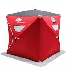3 Person Portable Pop-up Waterproof Ice Shelter Fishing Tent 300D Oxford Fabric